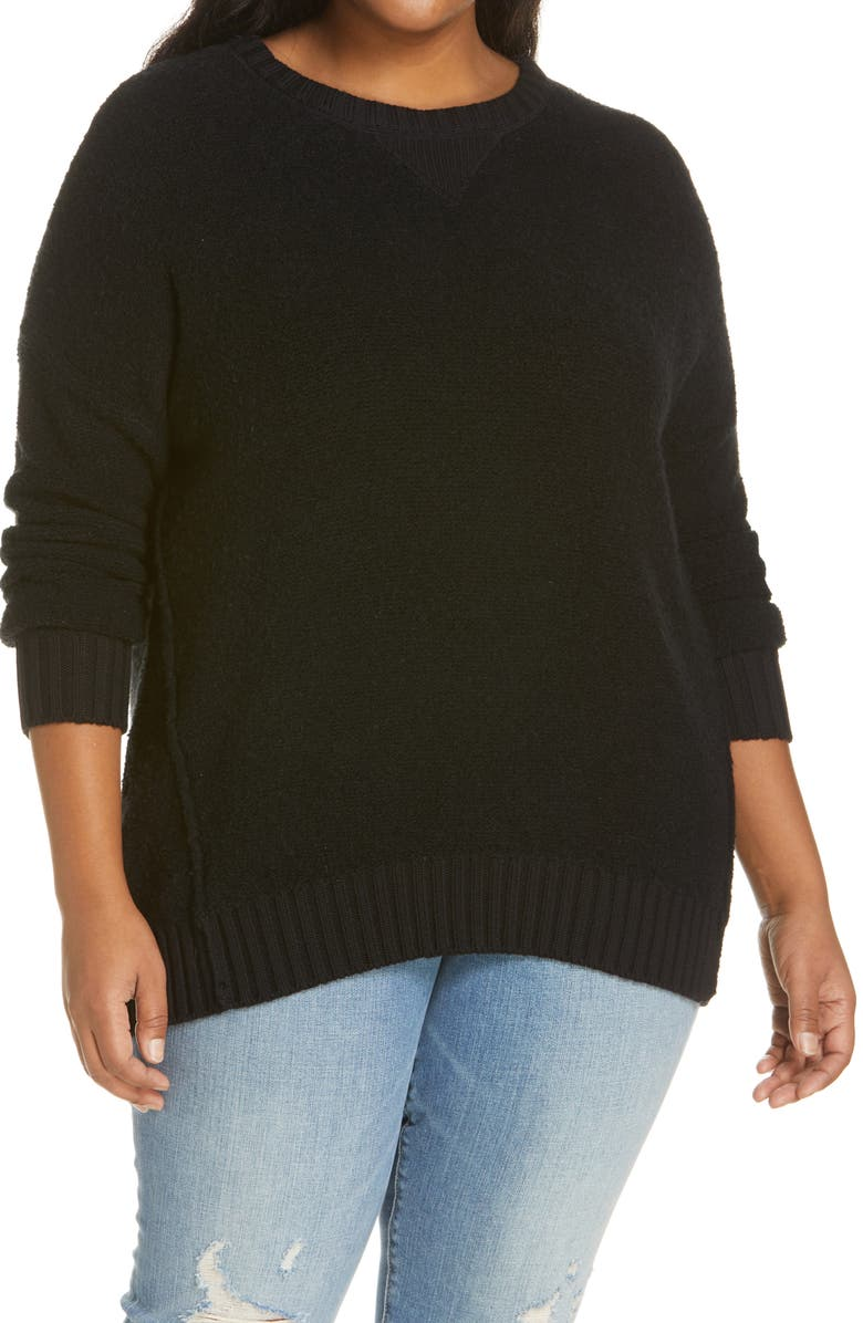 CASLON<SUP>®</SUP> Pullover Sweater, Main, color, 001