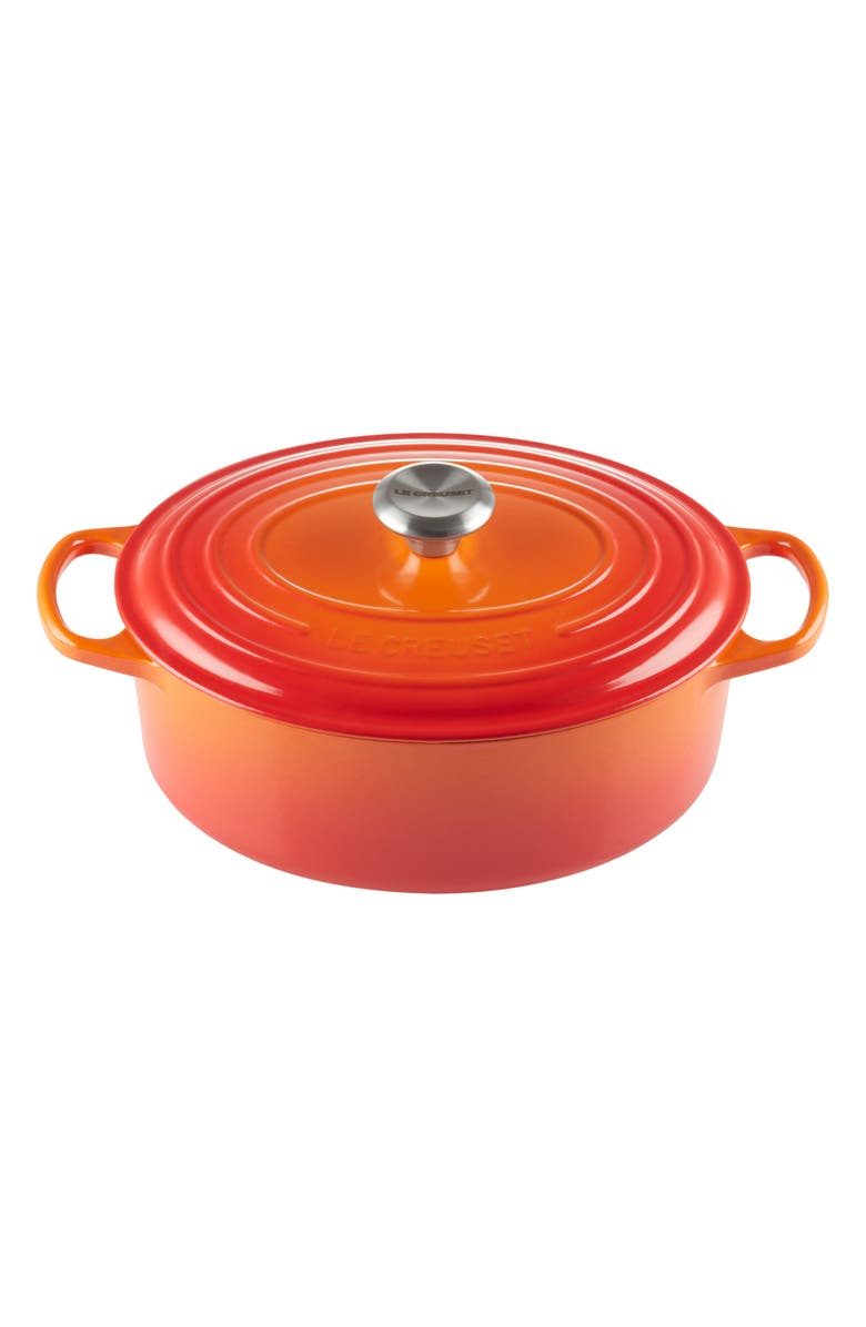 LE CREUSET Signature 2.75-Quart Oval Enamel Cast Iron Dutch Oven, Main, color, 000