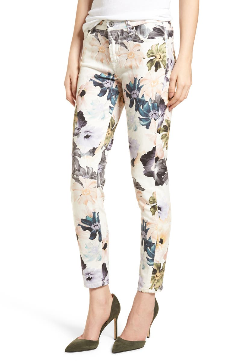 7 FOR ALL MANKIND <sup>®</sup> The Ankle Skinny Jeans, Main, color, DESERT GARDEN