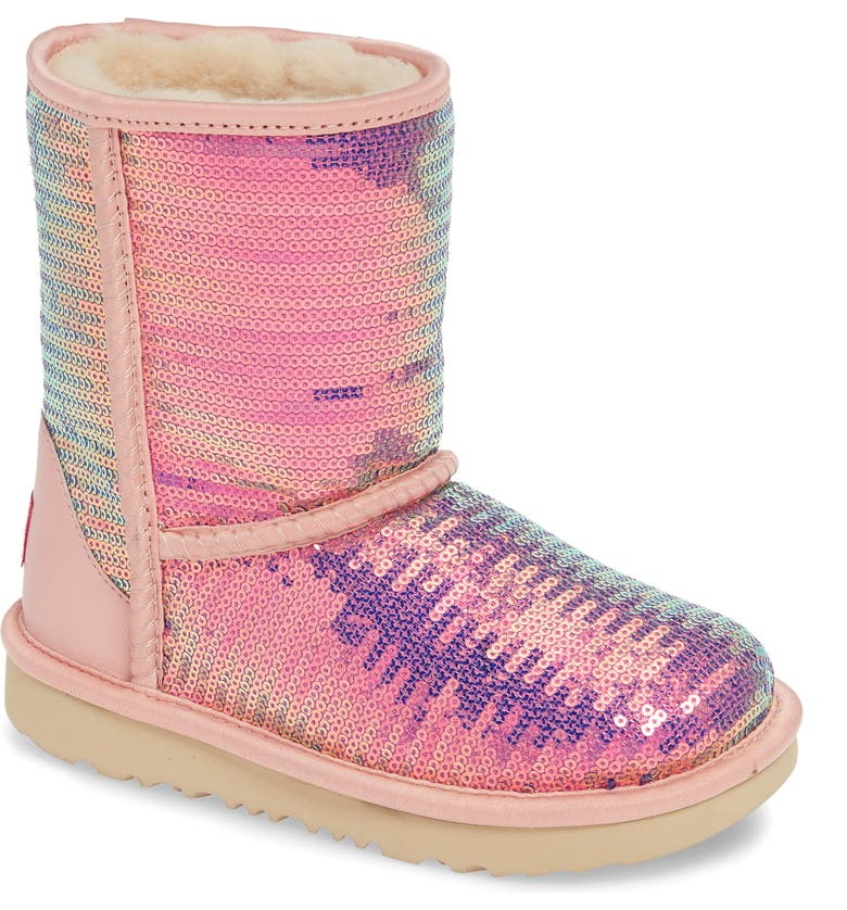 UGG<SUP>®</SUP> Classic Short II Sequin Boot, Main, color, 683