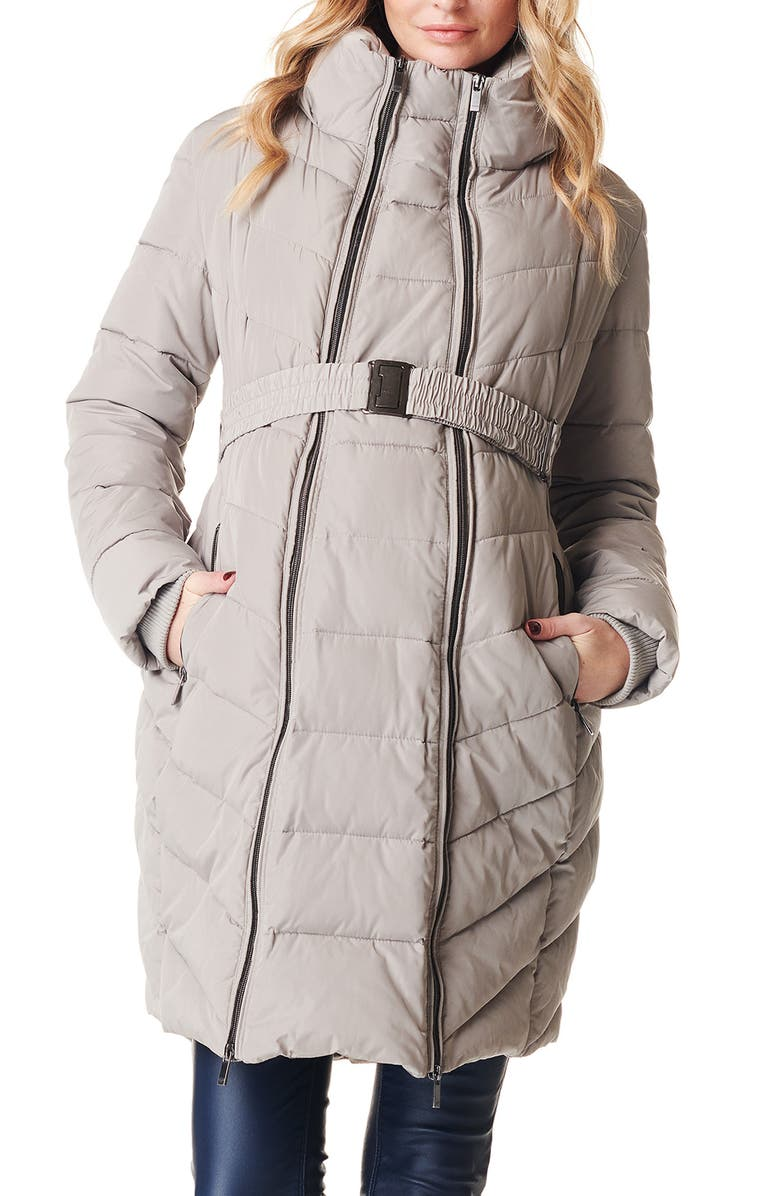 NOPPIES Lara Quilted Maternity Coat, Main, color, 020