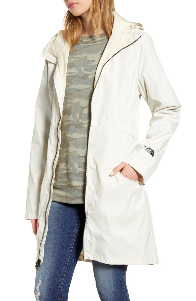 THE NORTH FACE Rissy 2 Hooded Water Repellent Raincoat, Main, color, 100