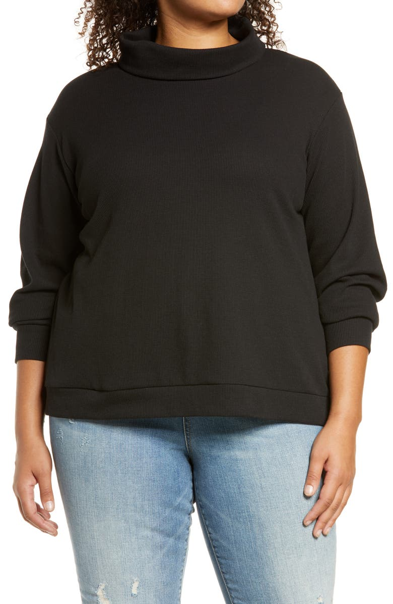 CASLON<SUP>®</SUP> Turtleneck Top, Main, color, 001