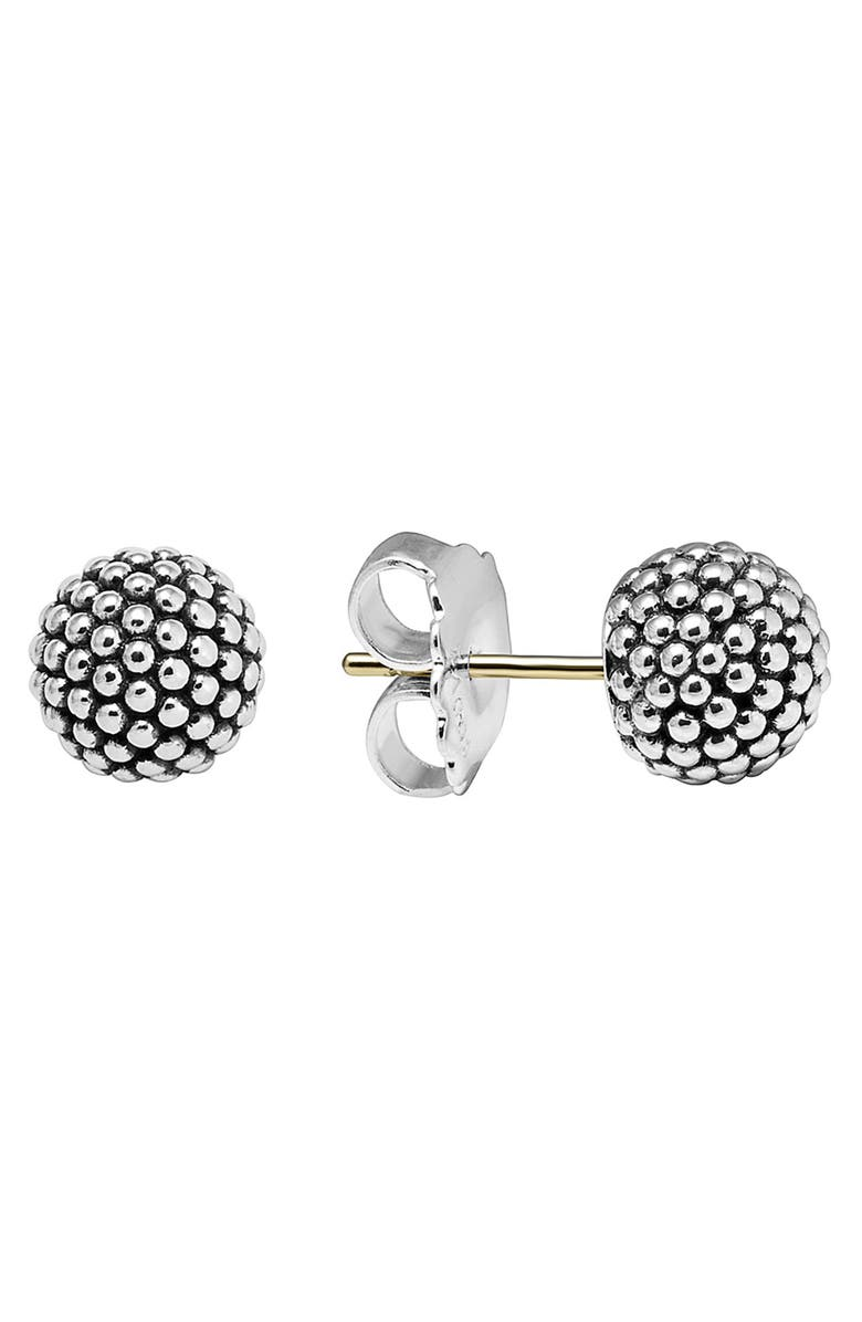 LAGOS 'Columbus Circle' Ball Stud Earrings, Main, color, STERLING SILVER