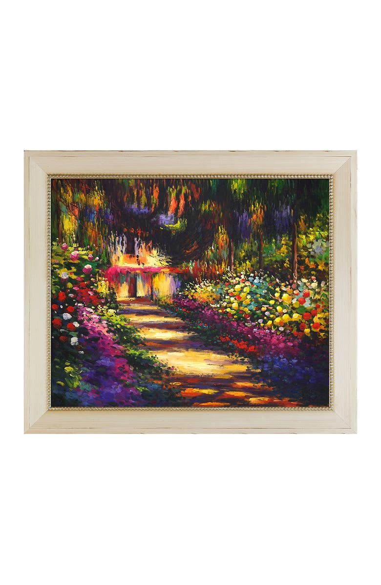 OVERSTOCK ART Pathway in Monet's Garden at Giverny Framed Oil Reproduction of an Original Painting by Claude Monet, Main, color, MULTI