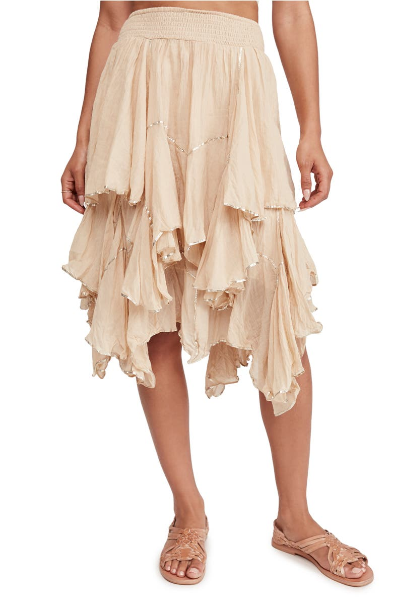 FREE PEOPLE Handkerchief Ruffle Skirt, Main, color, 250