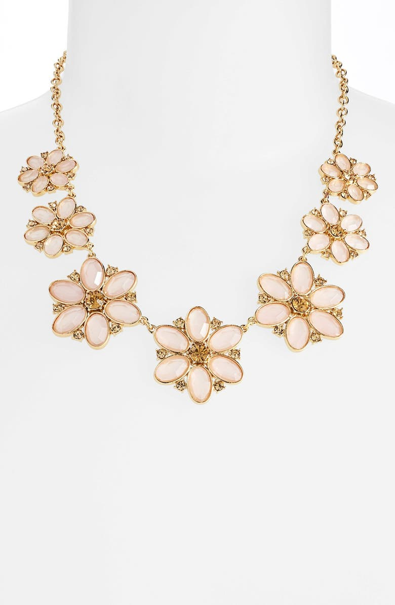 KATE SPADE NEW YORK 'floral fete' graduated flower necklace, Main, color, 650