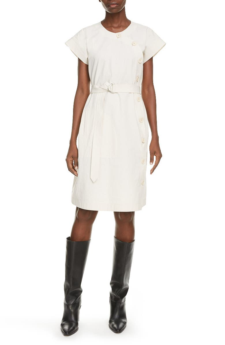 KENZO Belted Cotton Dress, Main, color, 901