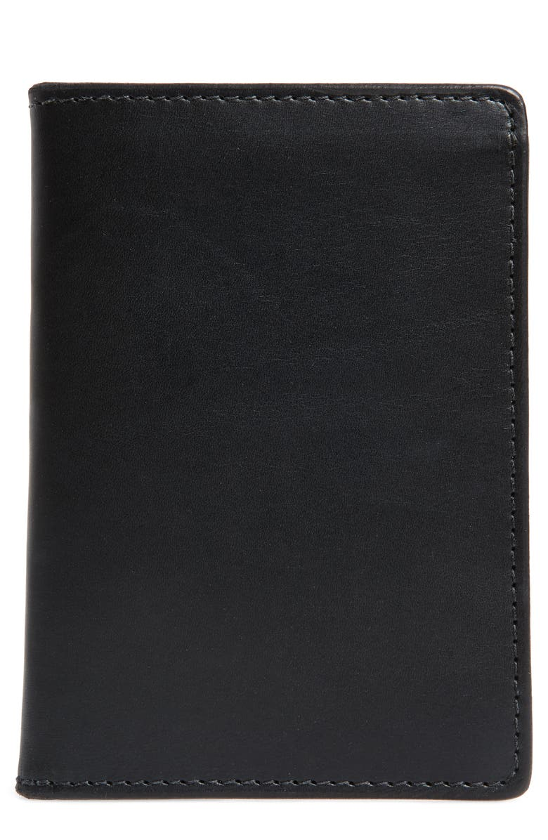 TANNER GOODS Leather Travel Wallet, Main, color, 001