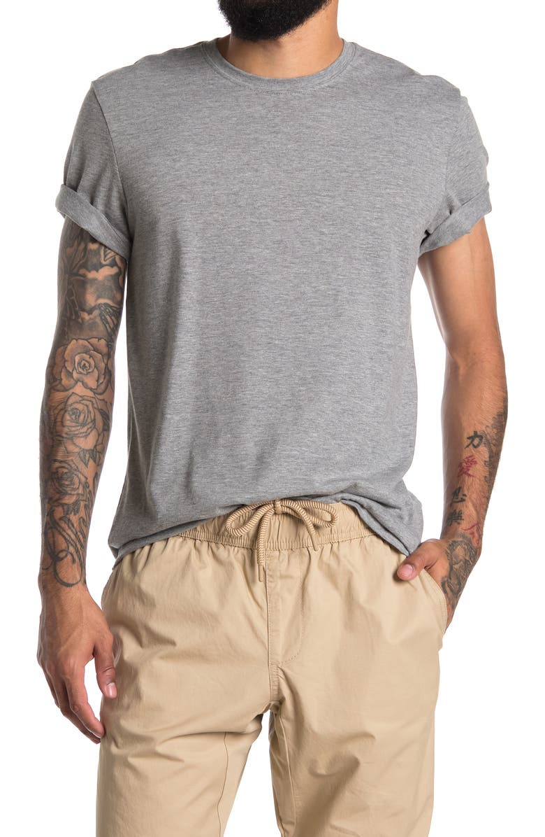 ABOUND Heathered Crew Neck T-Shirt, Main, color, GREY HEATHER