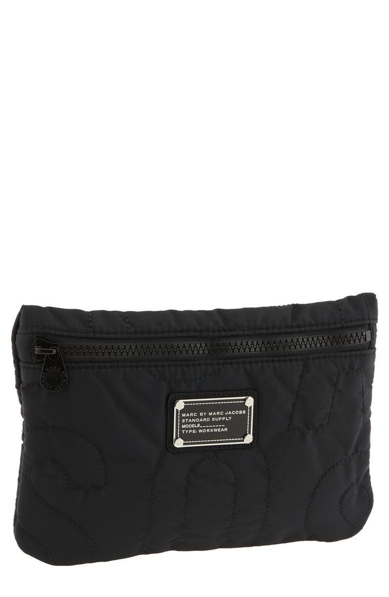 MARC JACOBS MARC BY MARC JACOBS Print Nylon Cosmetics Pouch, Main, color, 001