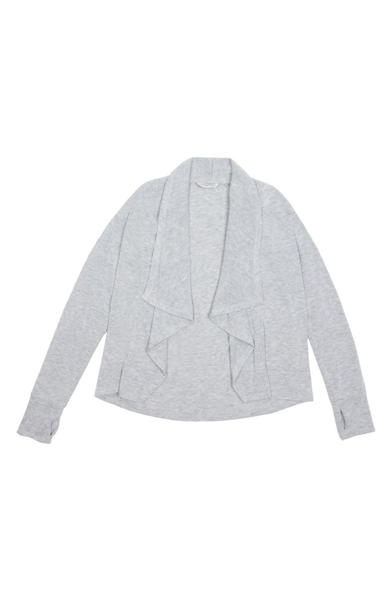 HABITUAL GIRL Cortsie Open Cardigan, Main, color, GREY HEATHER