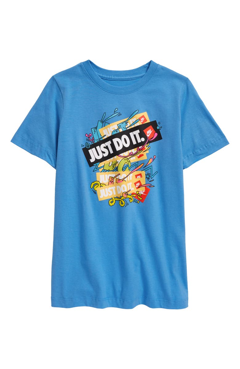 NIKE Sportswear Kids' Just Do It Graphic Tee, Main, color, 462