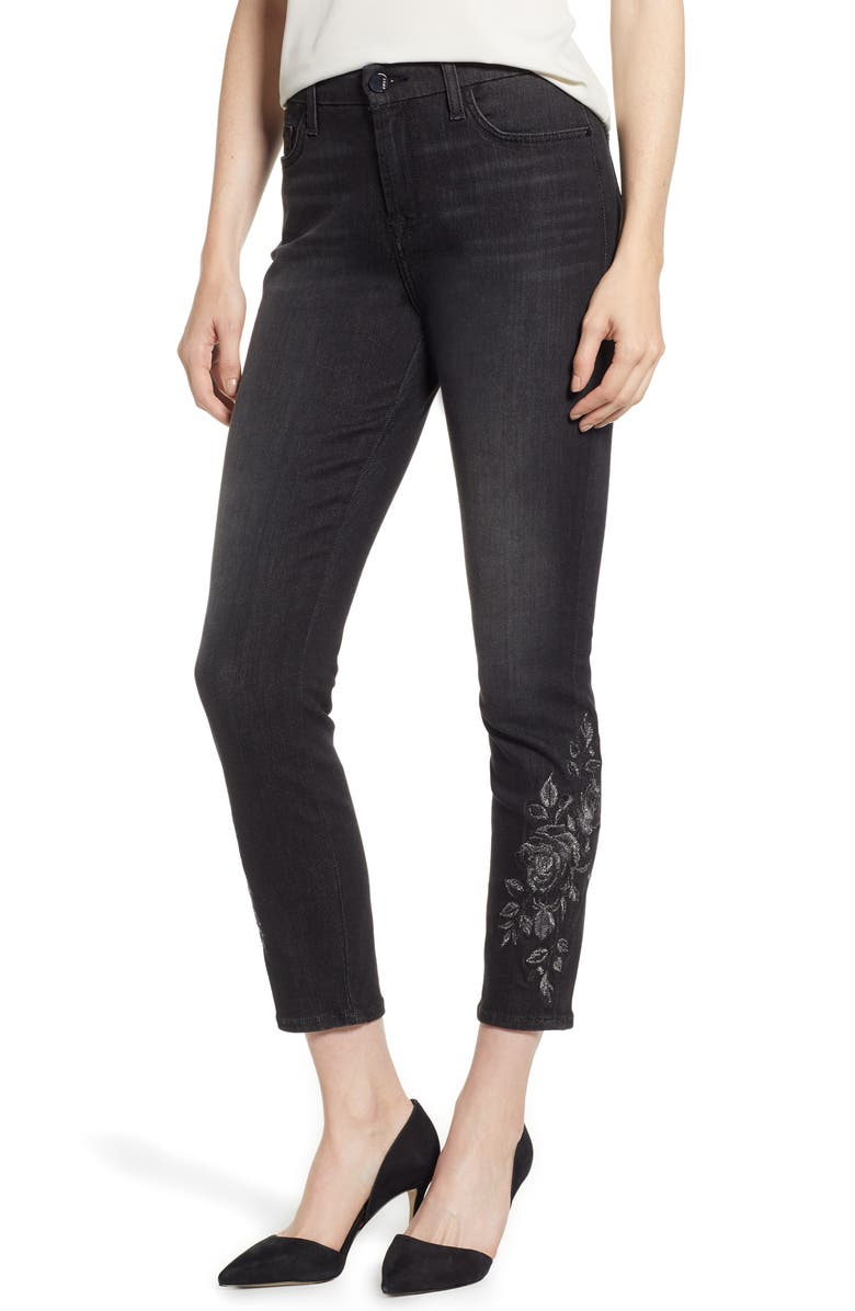JEN7 by 7 For All Mankind Embroidered Ankle Skinny Jeans, Main, color, 004