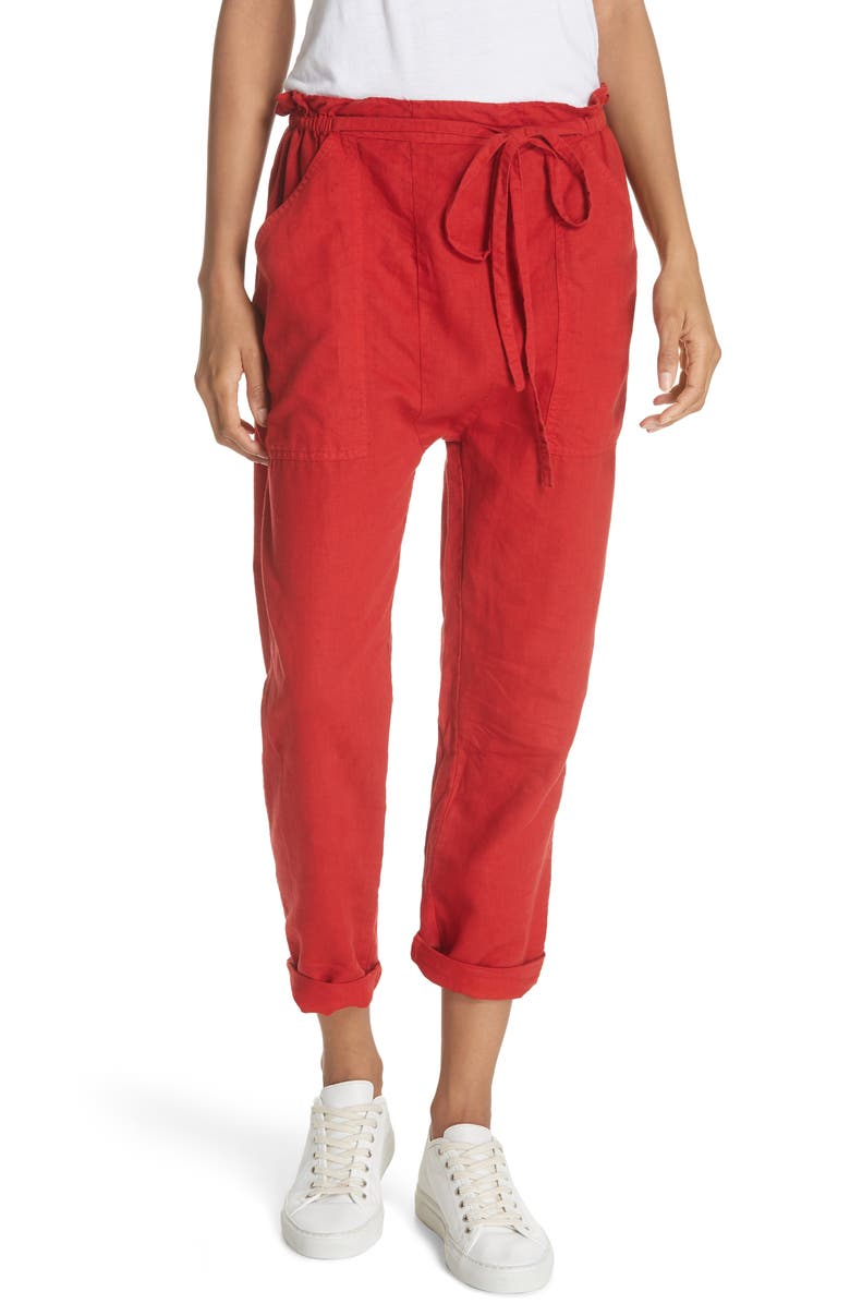 THE GREAT. The Paper Bag Harem Pants, Main, color, 600