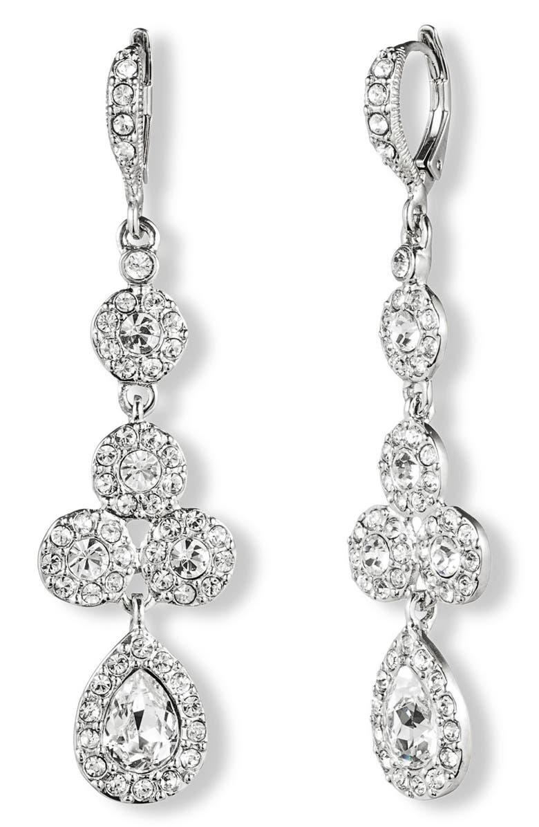 GIVENCHY Crystal Drop Earrings, Main, color, 040