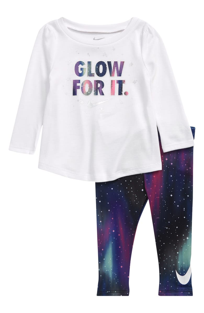 NIKE Glow for It Tunic & Leggings Set, Main, color, 019