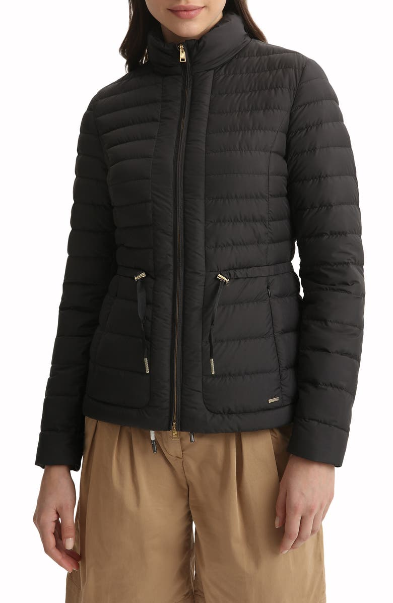 WOOLRICH Hibiscus Water Repellent Down Jacket, Main, color, Black