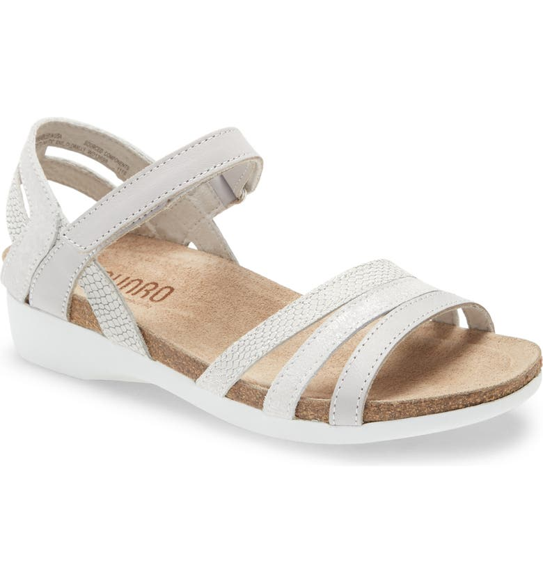 MUNRO Summer Sandal, Main, color, WHITE LEATHER