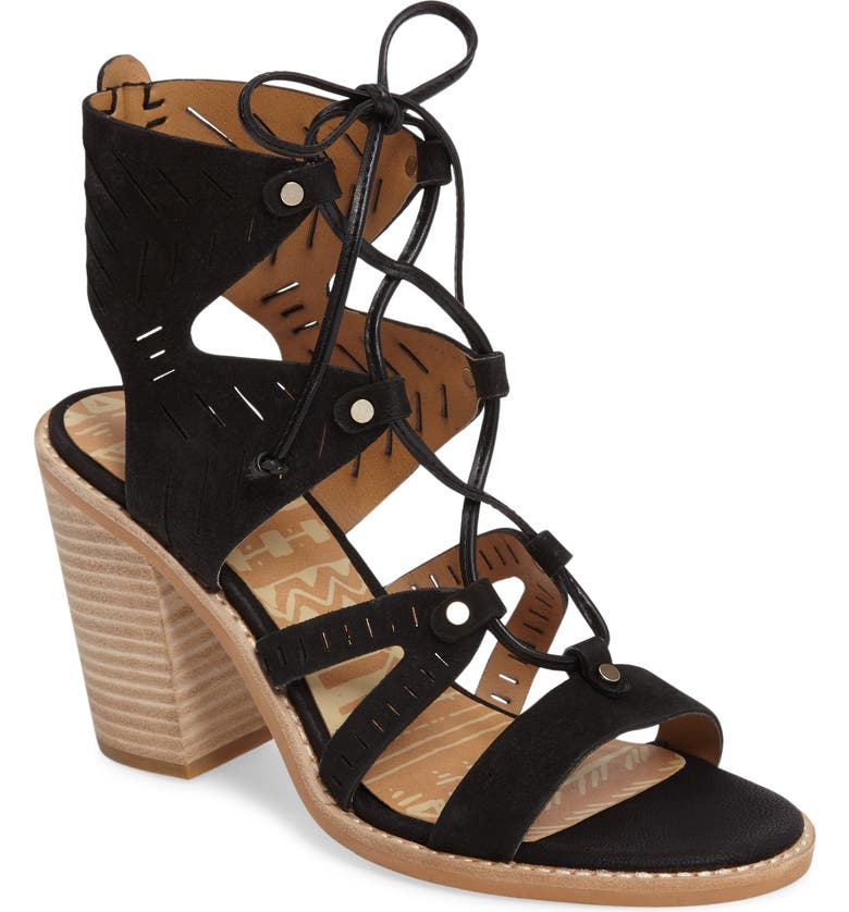 DOLCE VITA Luci Ghillie Lace Sandal, Main, color, 001
