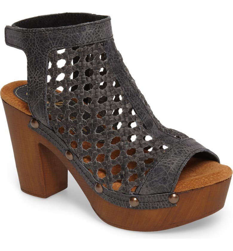 SBICCA Outlast Woven Sandal, Main, color, CHARCOAL LEATHER