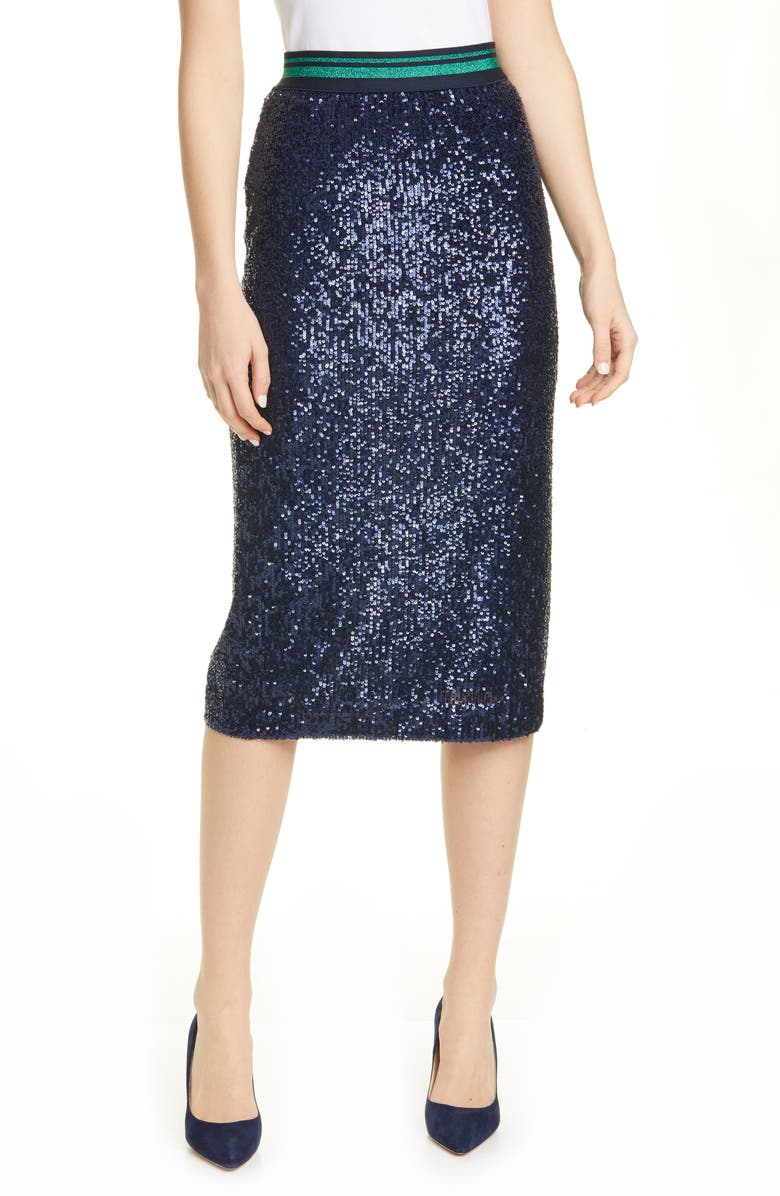 TED BAKER LONDON Sequin Pencil Skirt, Main, color, 402