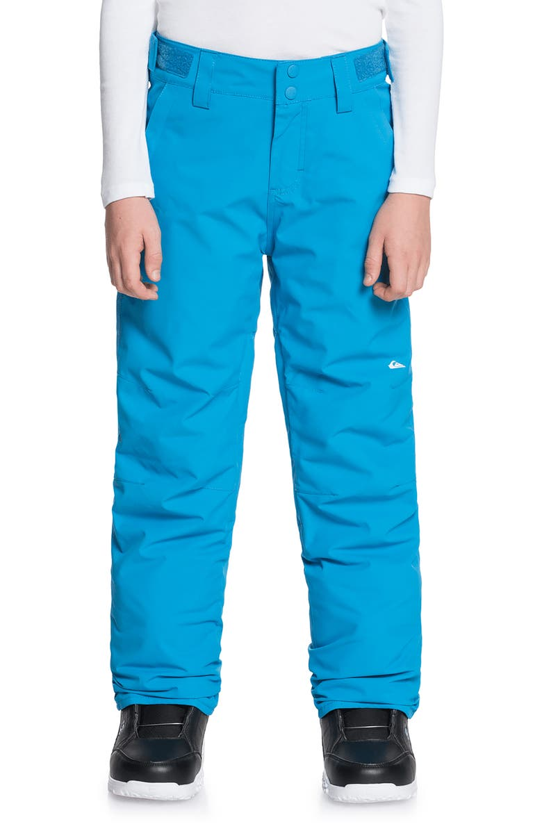QUIKSILVER Kids' Estate Waterproof Snow Pants, Main, color, BRILLIANT BLUE
