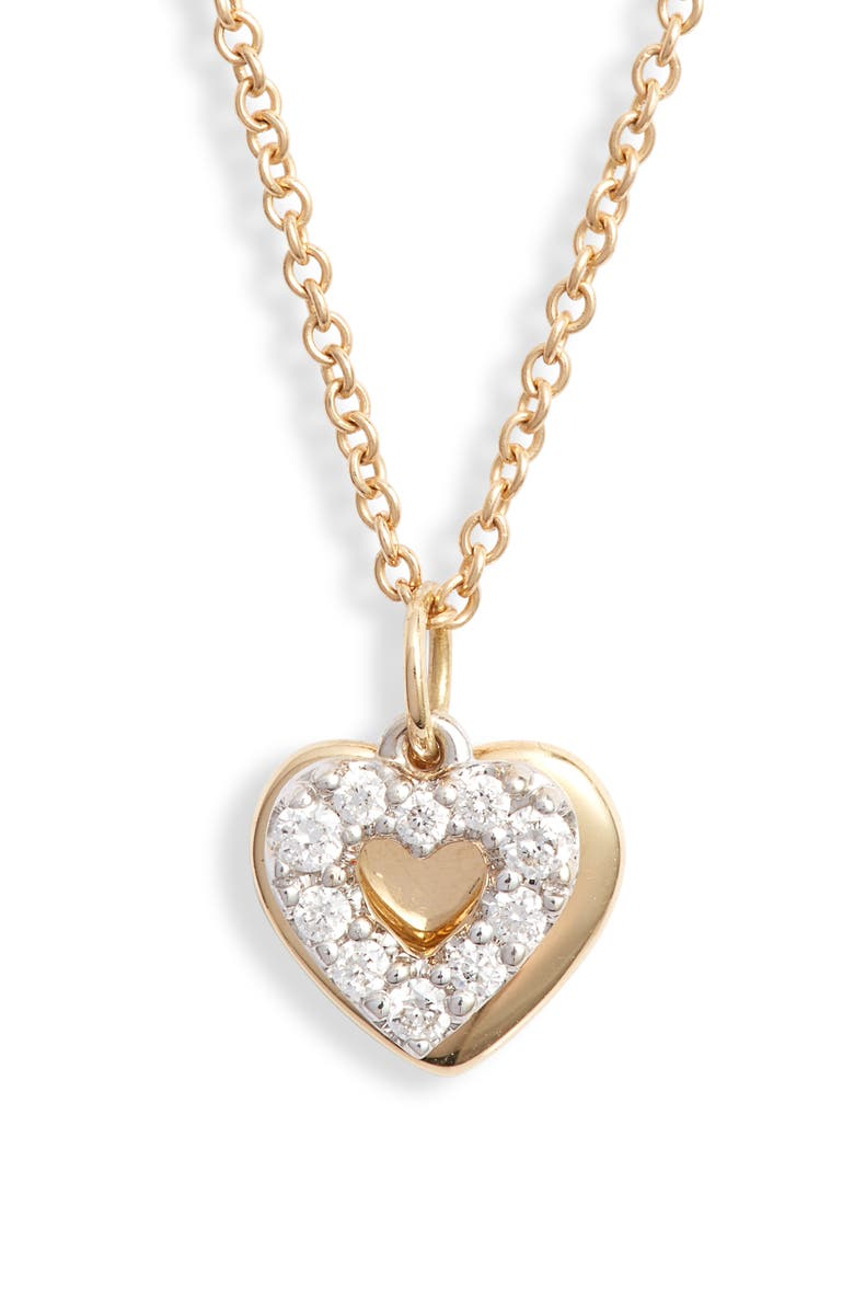 BONY LEVY Icons Gold & Diamond Heart Pendant Necklace, Main, color, 711