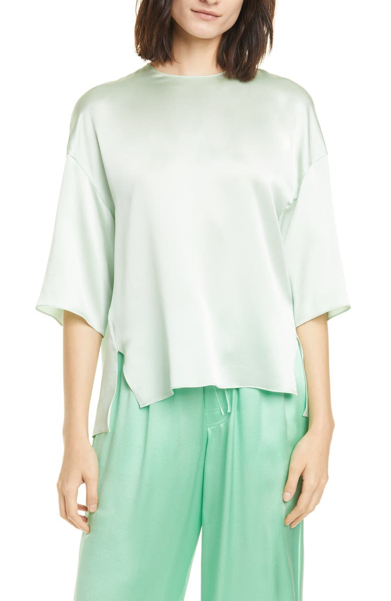 VINCE Silk Boxy Top, Main, color, 344