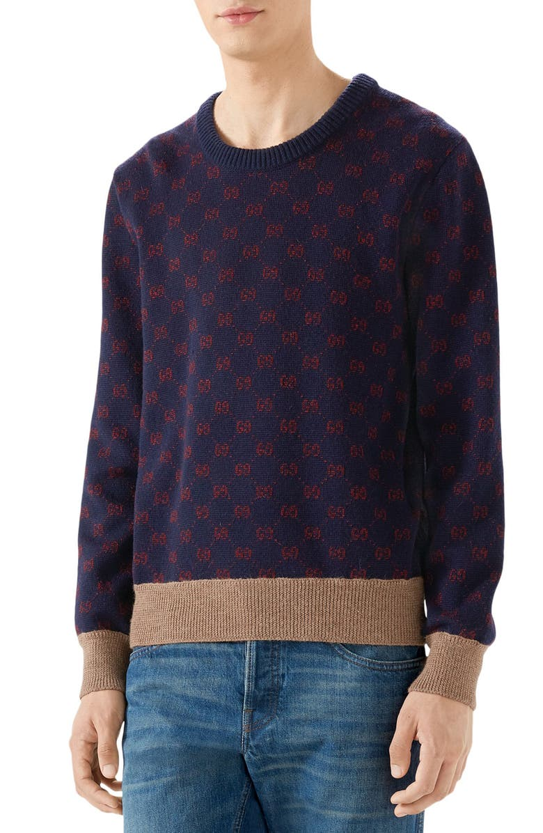 GUCCI GG Wool Sweater, Main, color, 488