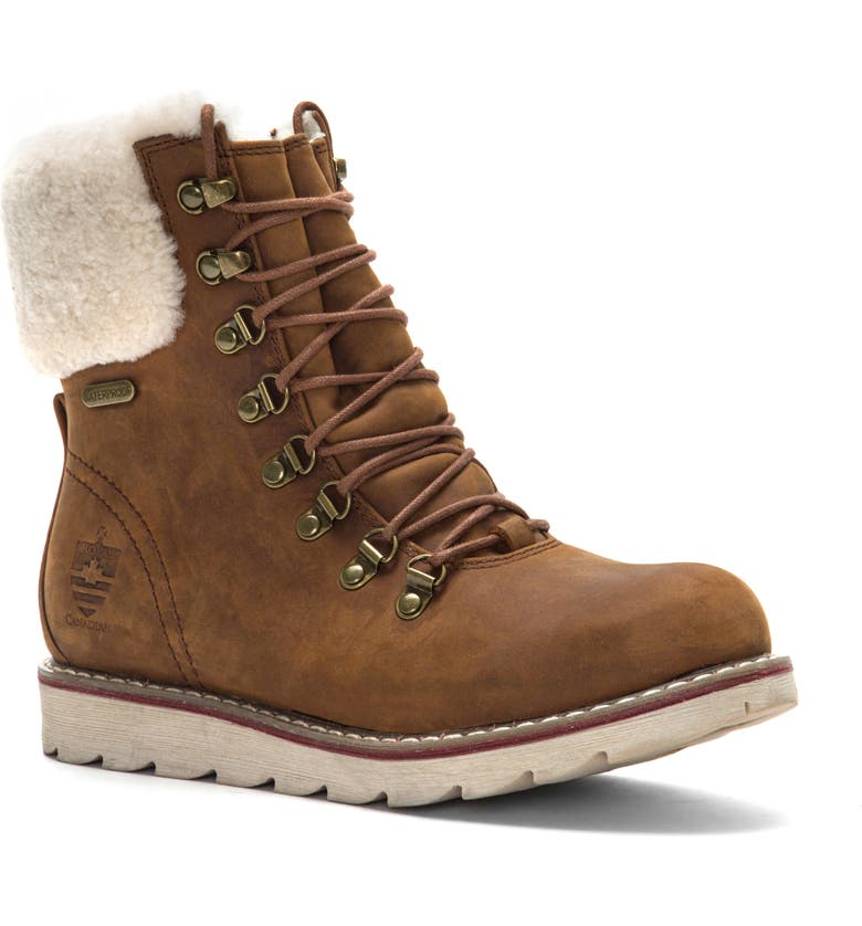 ROYAL CANADIAN Lethbridge Waterproof Snow Boot with Genuine Shearling Cuff, Main, color, 200