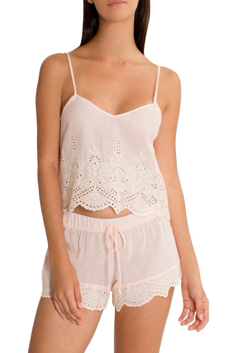 IN BLOOM BY JONQUIL Eyelet Cotton Short Pajamas, Main, color, 800