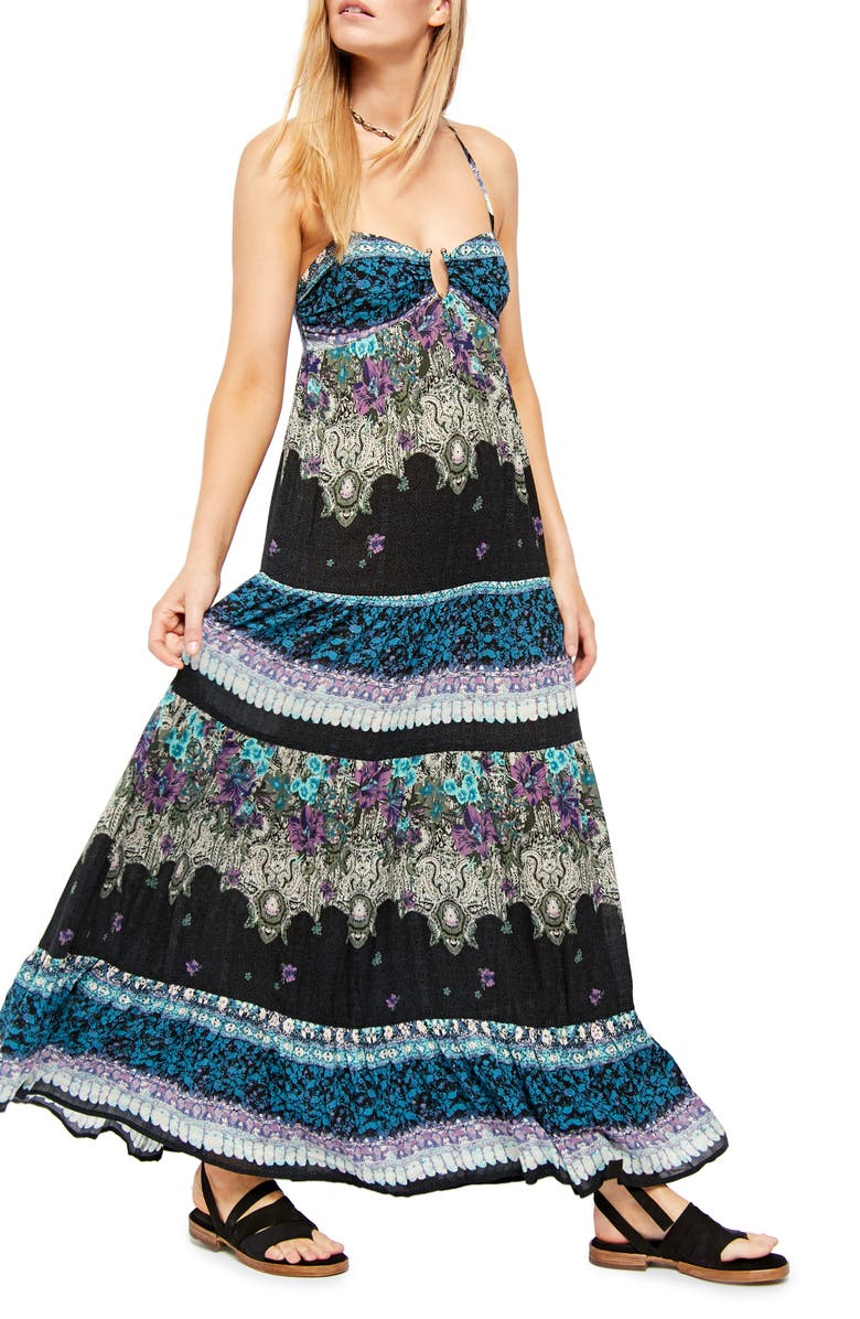 FREE PEOPLE Give a Little Sleeveless Maxi Dress, Main, color, 001