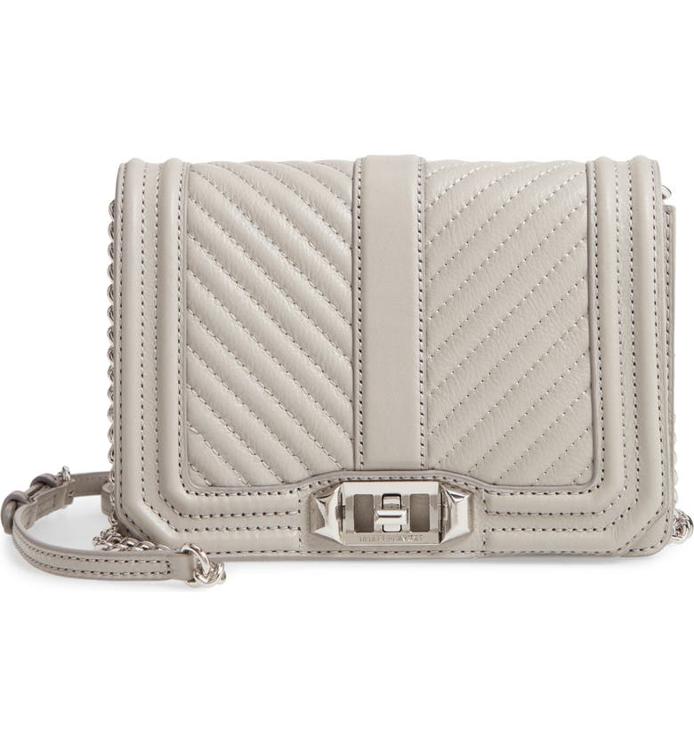 REBECCA MINKOFF Small Love Leather Crossbody Bag, Main, color, 025