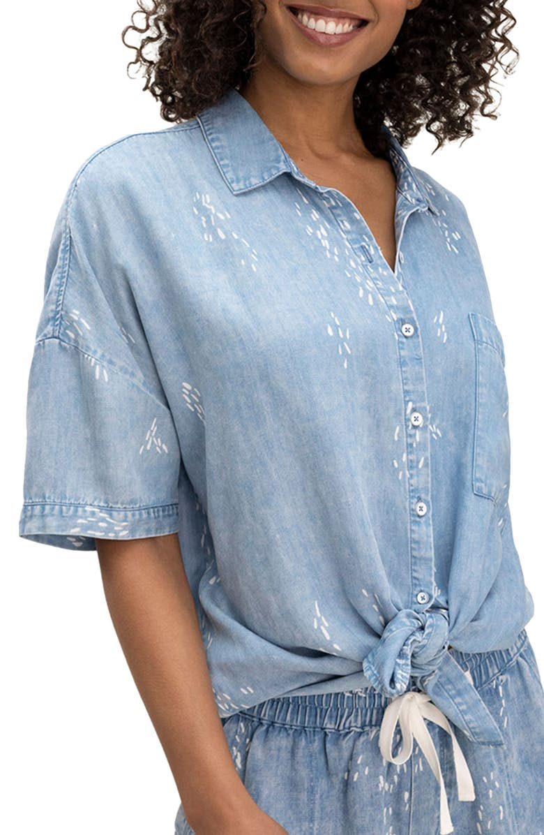 SPLENDID Wildflower Chambray Button-Up Shirt, Main, color, CHAMBRAY
