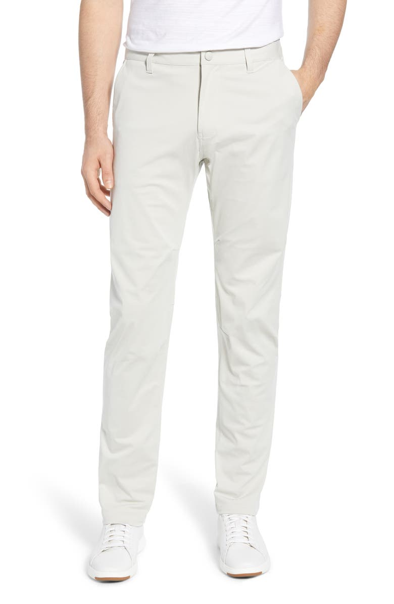RHONE Commuter Straight Fit Pants, Main, color, STONE