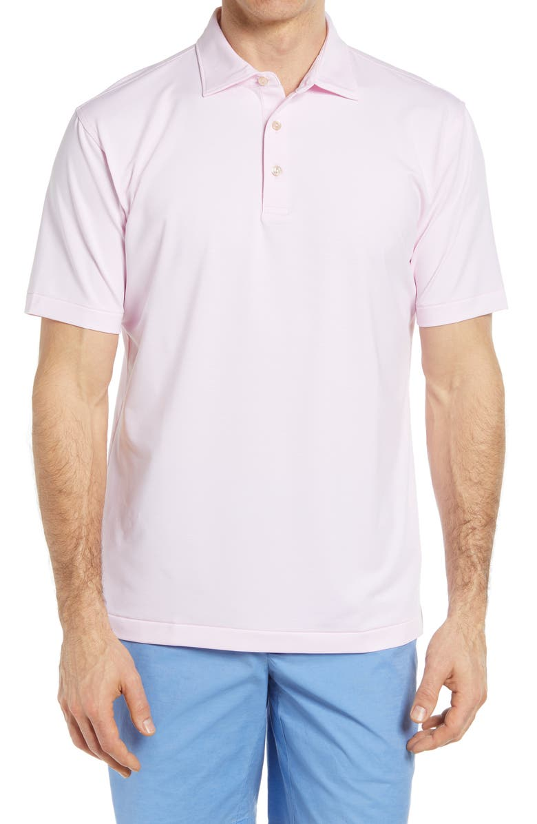 PETER MILLAR Jubilee Stripe Stretch Jersey Performance Polo, Main, color, PALMER PINK