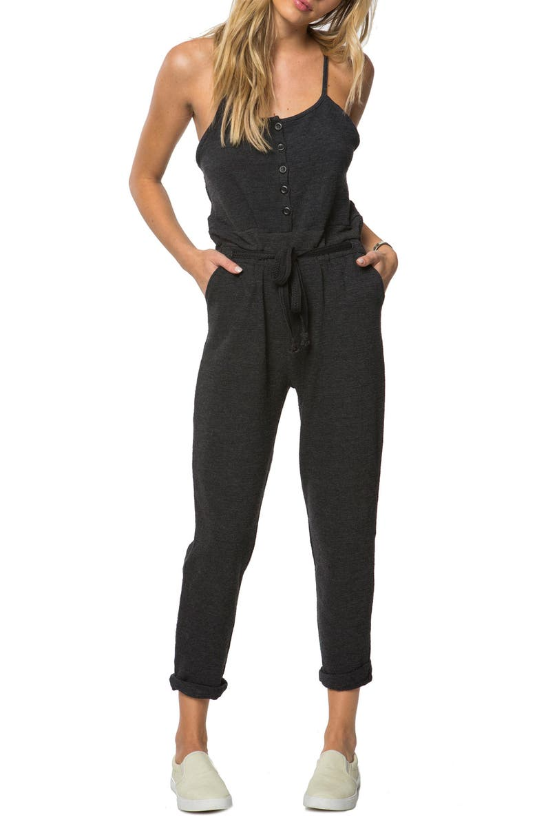 O'NEILL Greta Cotton Jumpsuit, Main, color, 001