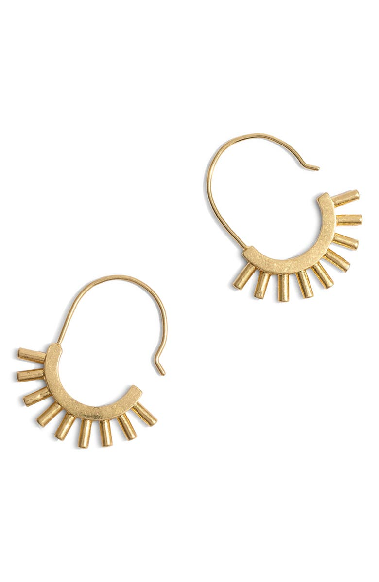 MADEWELL Succulent Earrings, Main, color, GOLD OX