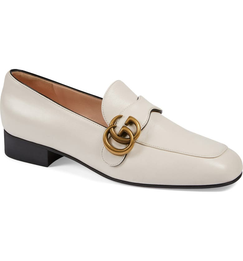 GUCCI Loafer, Main, color, MYSTIC WHITE