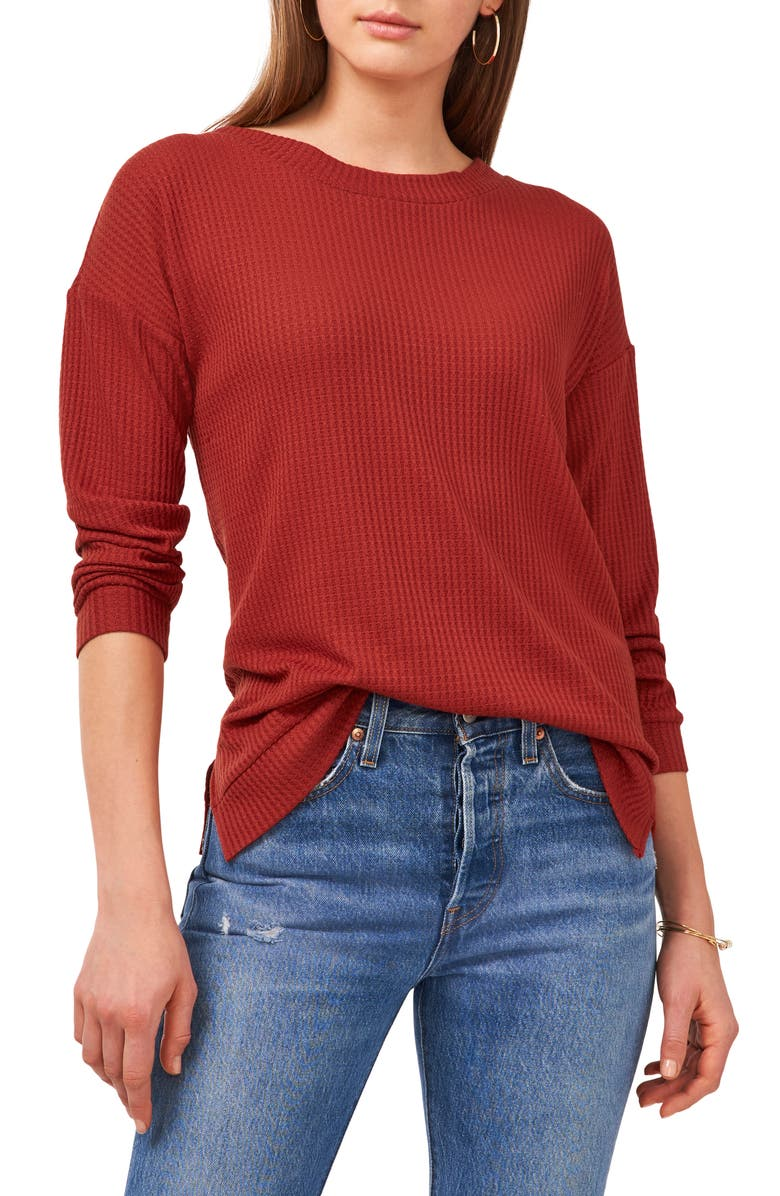 1.STATE Back Twist Knit Top, Main, color, AMBER RUST