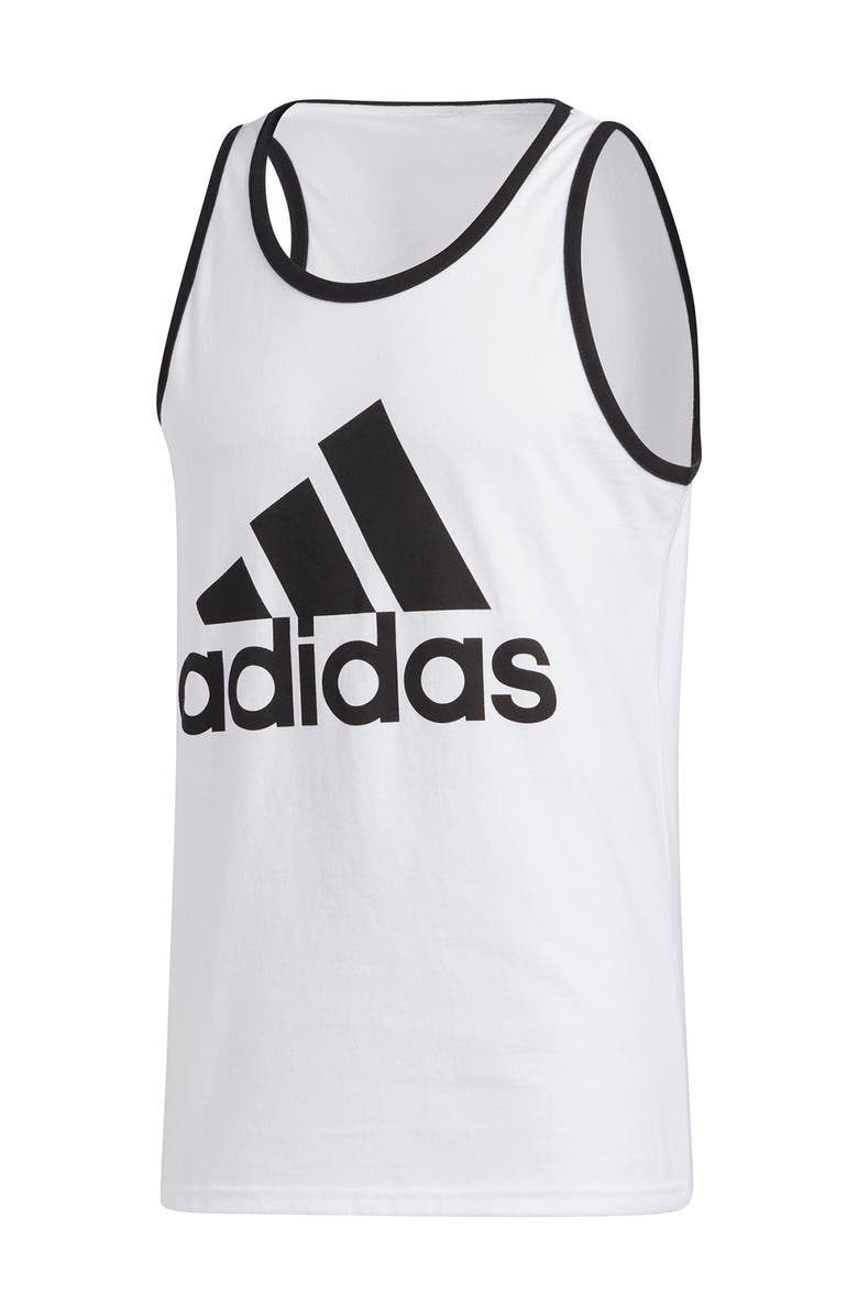 ADIDAS BOS Classic Tank Top, Main, color, WHITE/BLAC