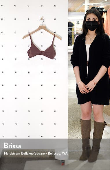 Stretch Cotton Jersey Triangle Bralette, sales video thumbnail