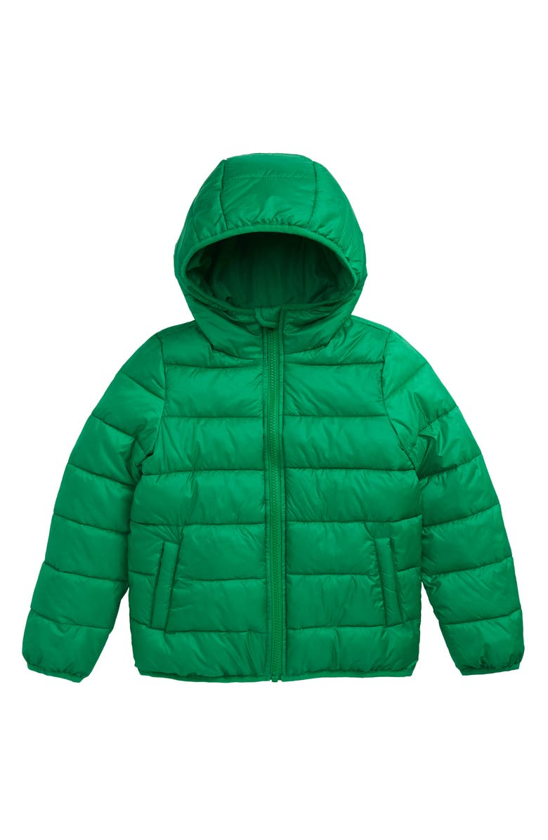 NORDSTROM Kids' Hooded Puffer Jacket, Main, color, GREEN BRIGHT