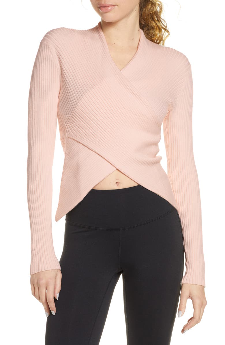 LIVE THE PROCESS V-Wrap Knit Top, Main, color, 650
