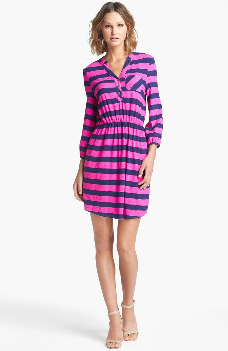 LILLY PULITZER<SUP>®</SUP> 'Beckett' Stripe Shirtdress, Main, color, 650