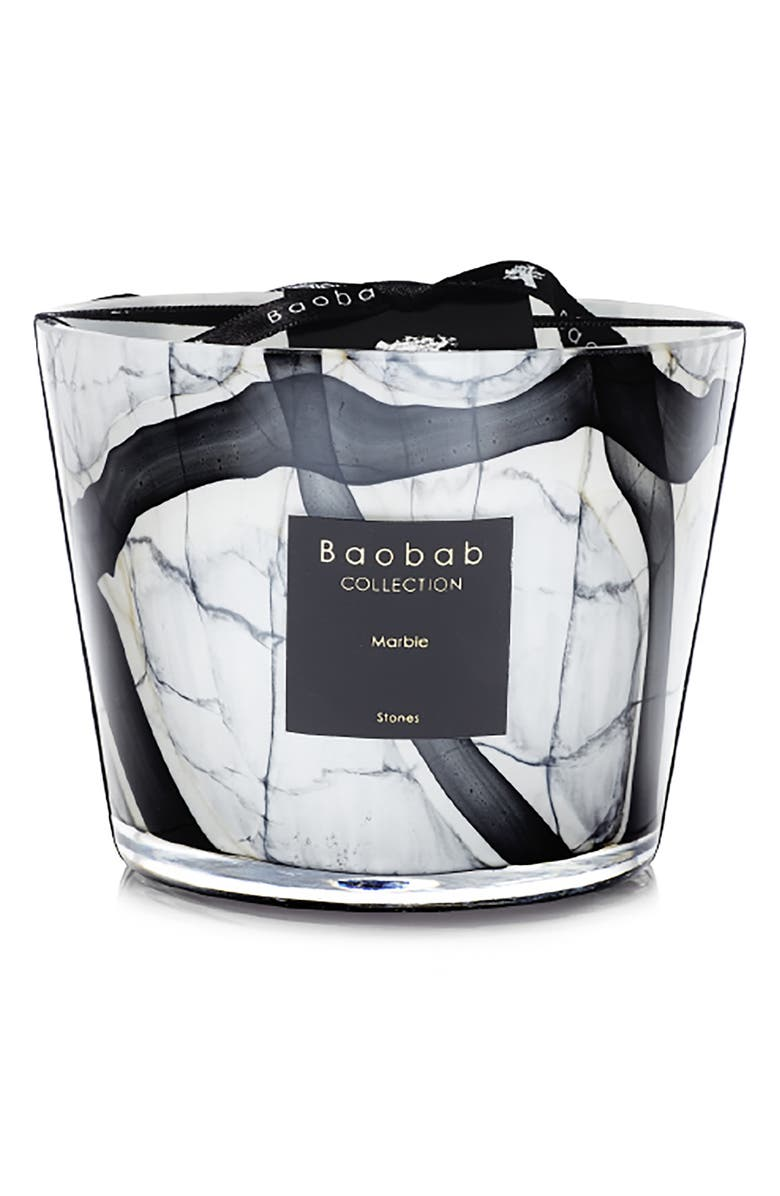BAOBAB COLLECTION Stones Marble Candle, Main, color, MARBLE- SMALL