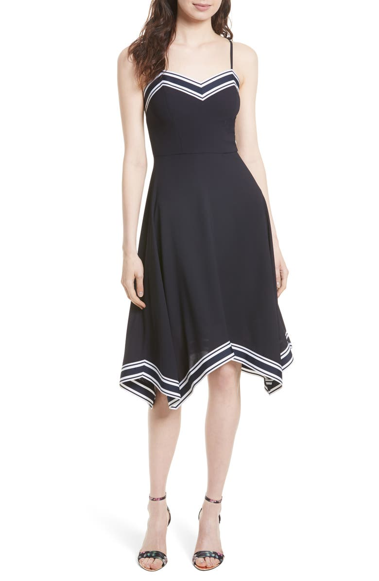 TED BAKER LONDON Kahmen Strappy Midi Dress, Main, color, 410