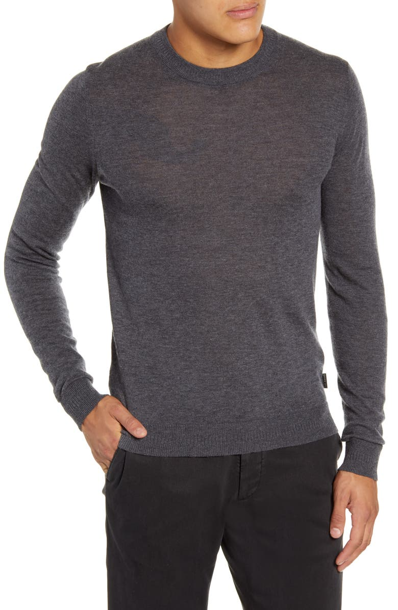 TED BAKER LONDON Chemin Slim Fit Crewneck Sweater, Main, color, 020