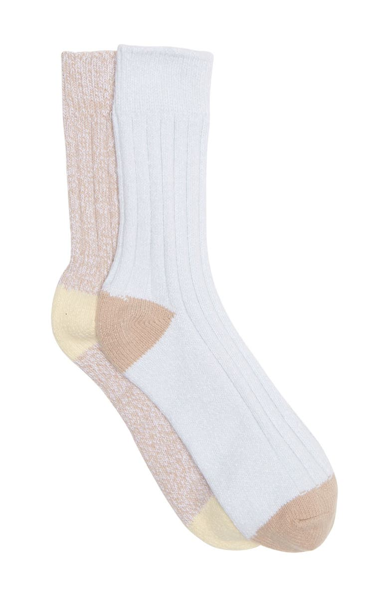 ABOUND Marled Knit Boot Socks - Pack of 2, Main, color, BLUE DRIFT MARL